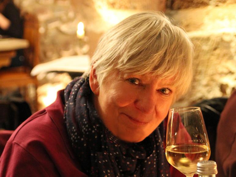 Christa Kosack hat mal wieder alles perfekt organisiert und sich ihren Wein redlich verdient
