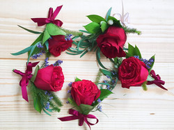 Boutonneires and wrist corsages