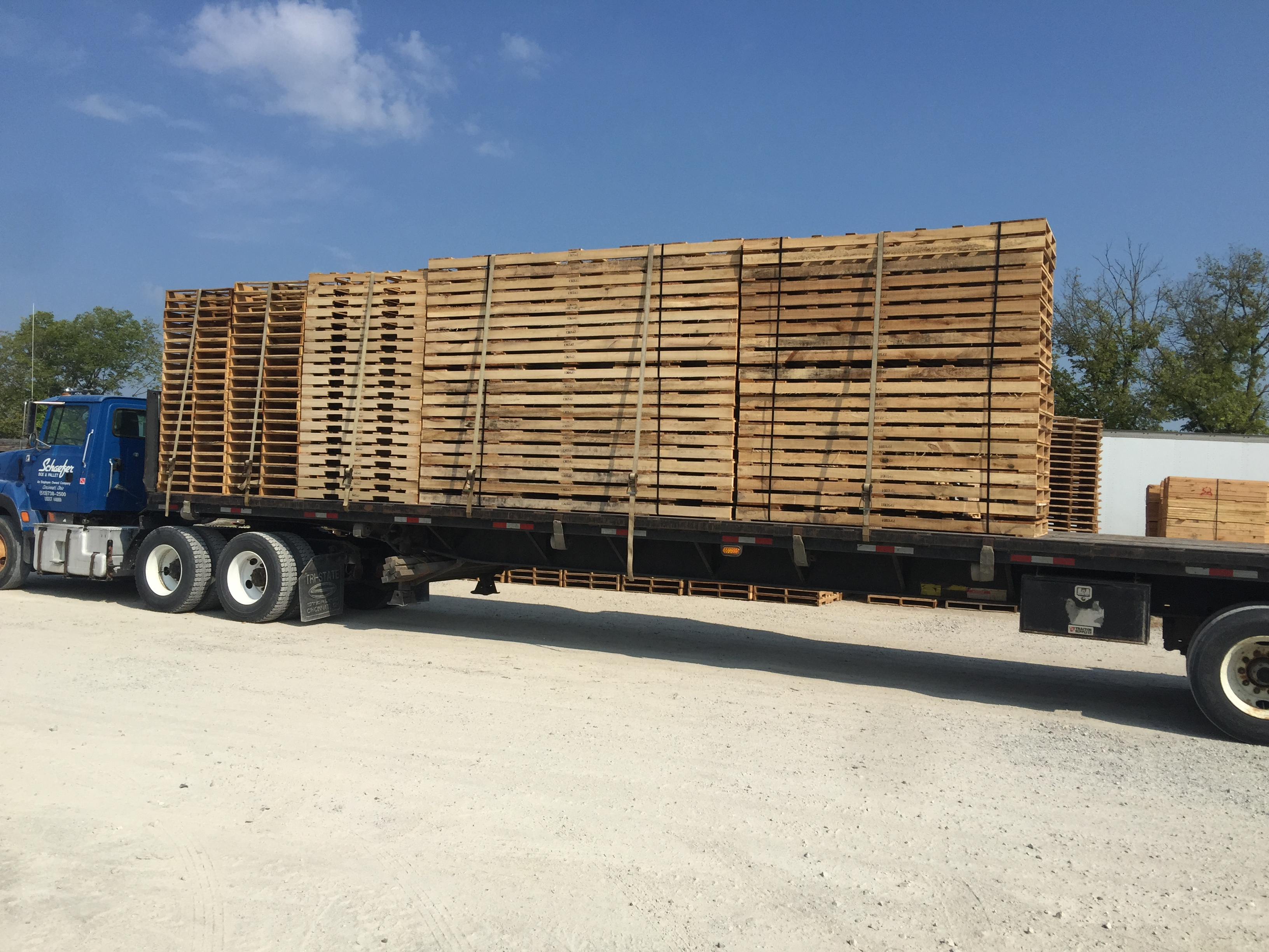 Pallets leaving for customers