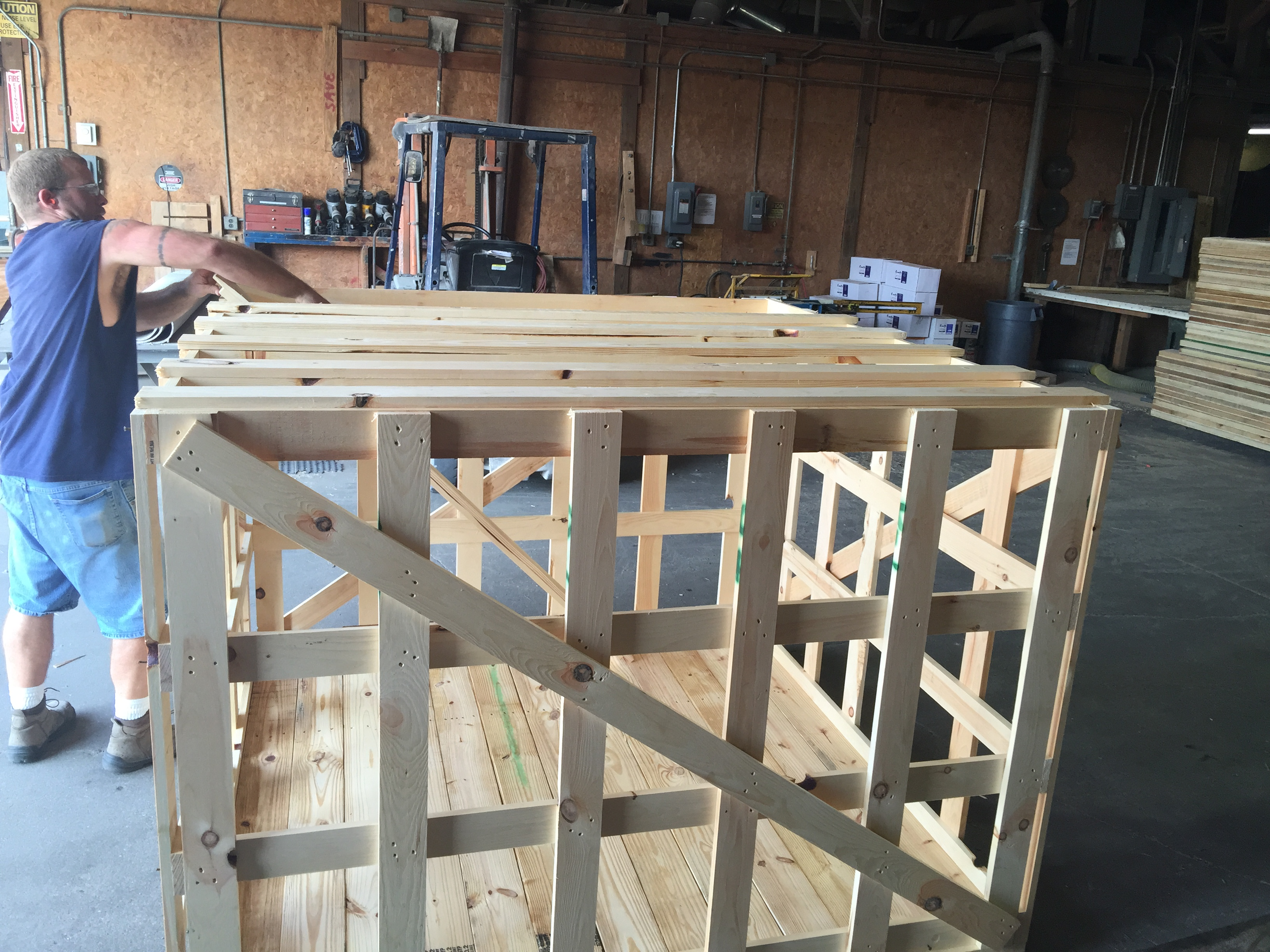 Final Assembly of Crates