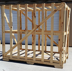 Large shipping crate