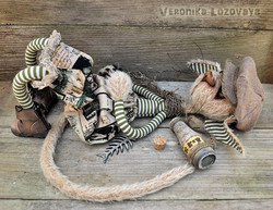 Gothic Alley Cat. Artist Mohair Cat
