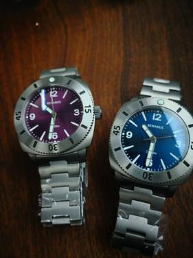 Moray 47 purple sunray vs blue sunray  n
