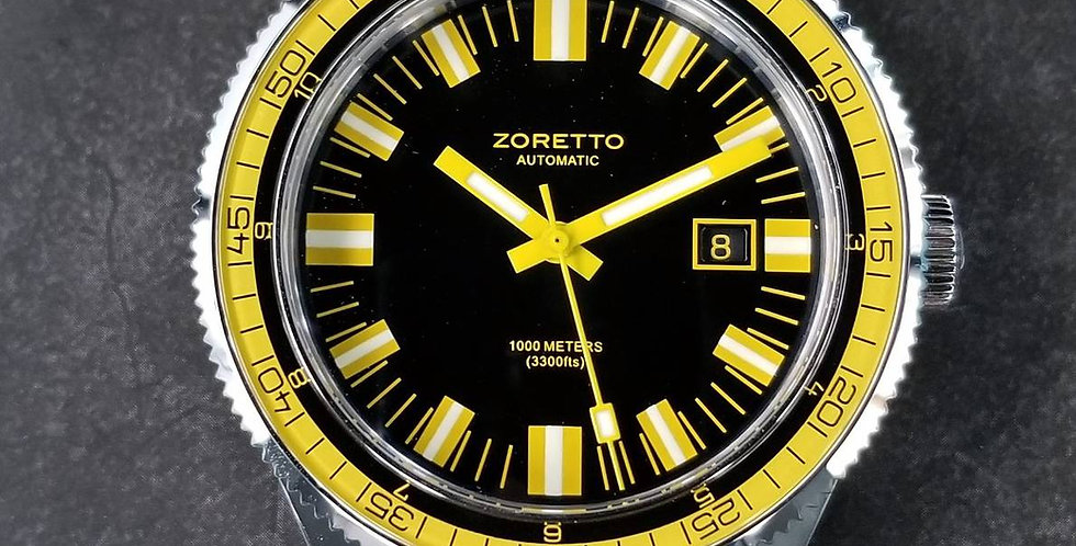 Jota black dial yellow bezel