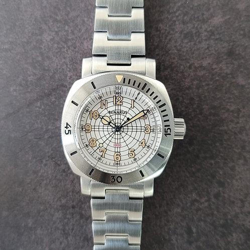 Moray 38 steel silver dial vintage lume