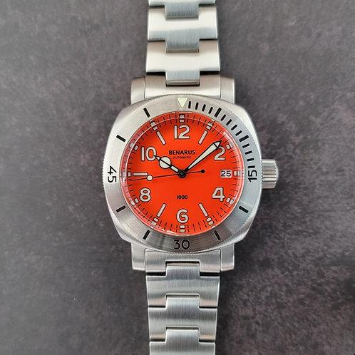 Moray 38 steel orange numbers  dial C3 lume date