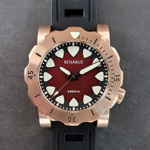 Bronze Megalodon brushed red no date