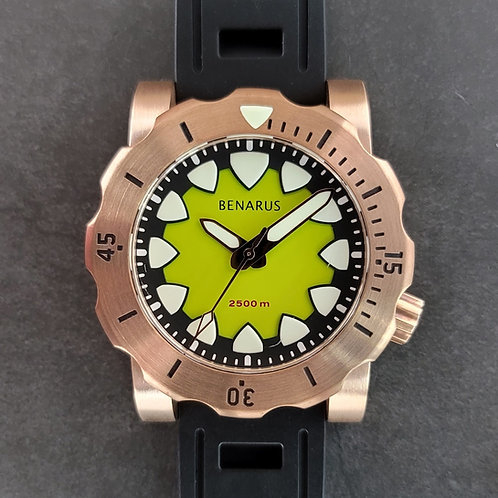 Bronze Megalodon lime green no date