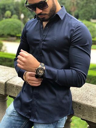 Camisa Marinho Acetinado