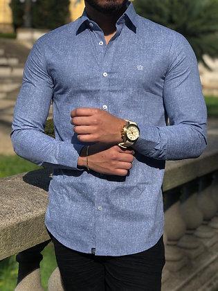 Camisa Azul Manchado