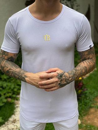 Camiseta FB Logo Gold White