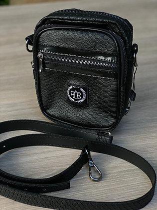 Shoulder Bag Croco Black