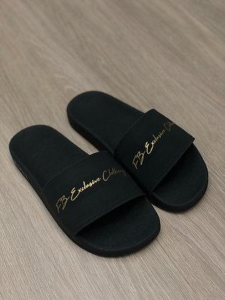 Chinelo Signature Gold Black