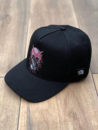 Boné Skull Pink Black