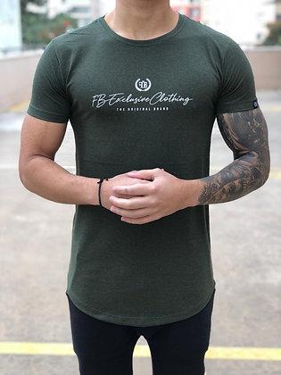 Camiseta Original Basic Verde Rajado