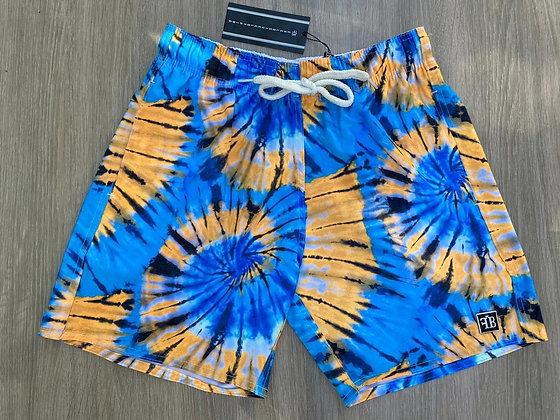 Shorts Laranja e Azul