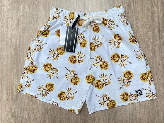 Shorts Roses Gold Branco