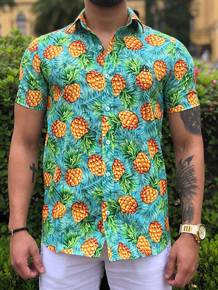 Camisa Floral Abacaxi