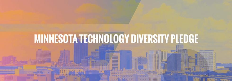 Minnesota Technology Diversity Pledge Banner with Skyline