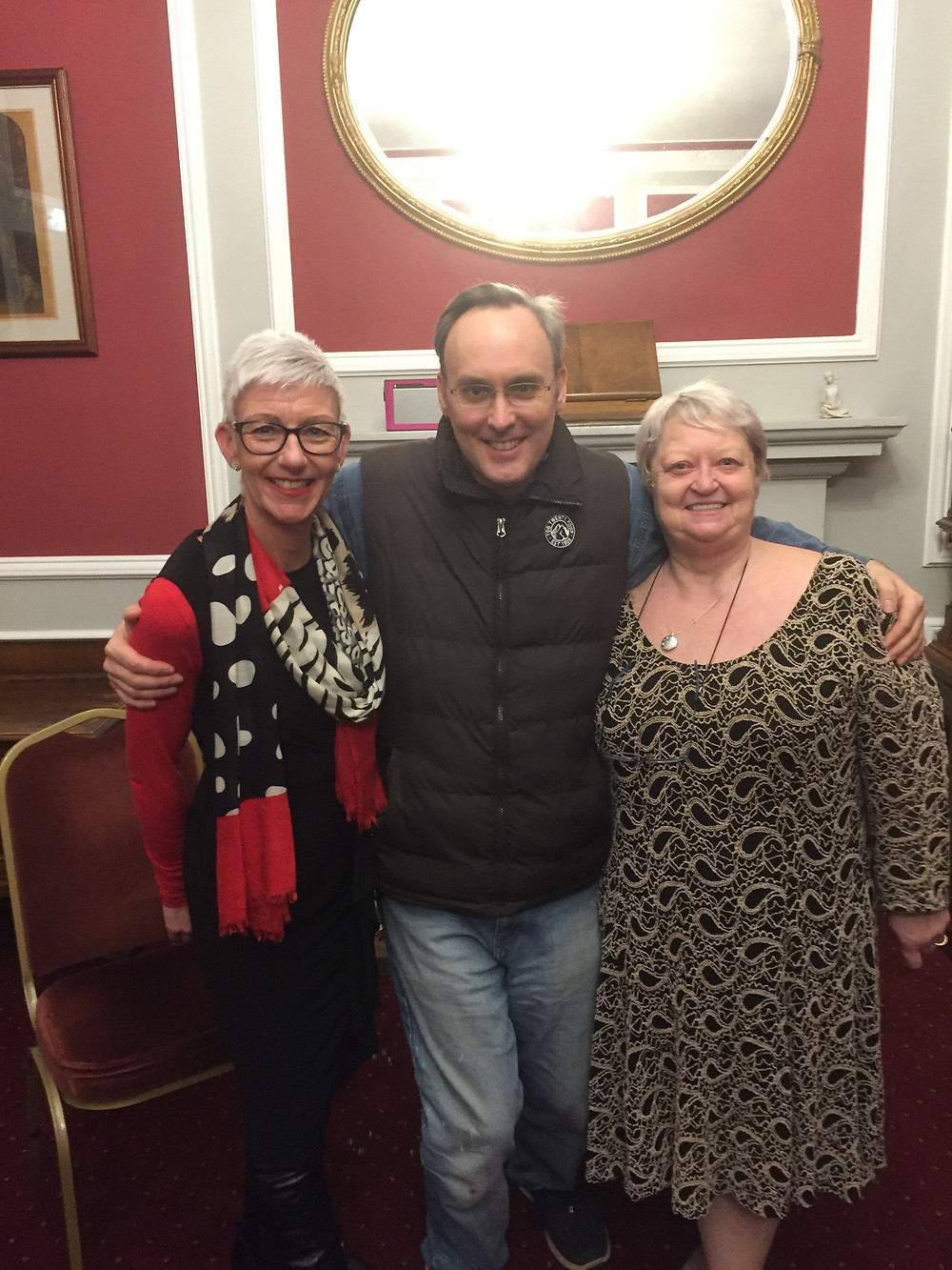 Me with my amazing tutors, Angie and Sharon