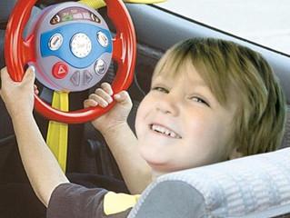 The pretend steering wheel!