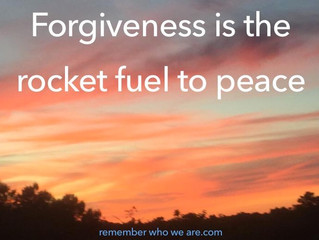 Forgiveness is the rocket fuel to peace