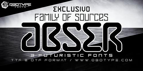A B S E R_Font family