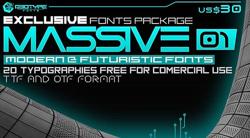 Massive_01_Modern and Futuristic Fonts