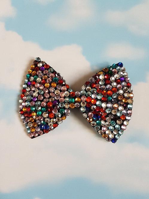 Multi Coloured Bling Bow Clip