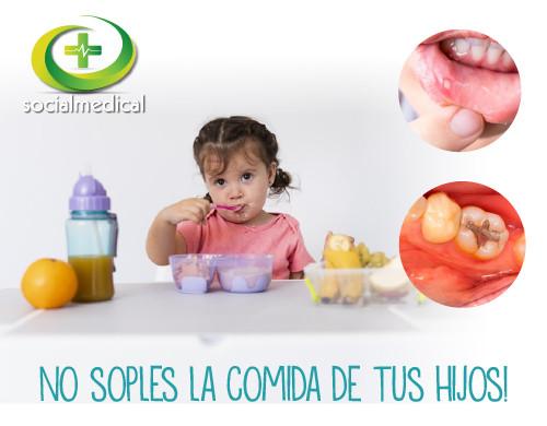 No soples la comida de tus hijos, puedes enfermarlos