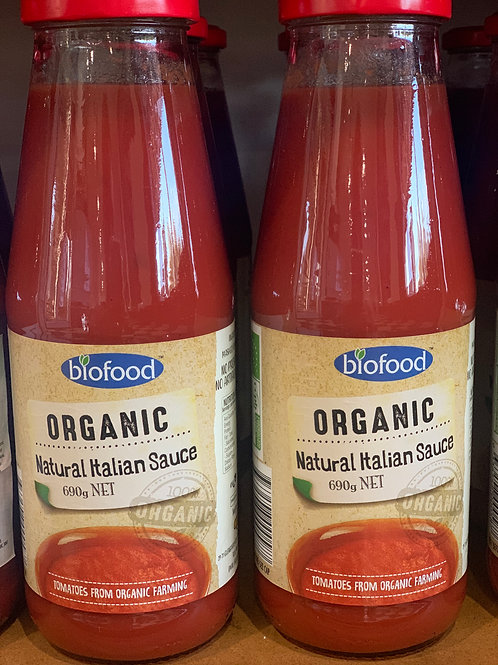 Organic Natural Italian Sauce
