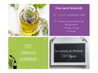 Les conseils de Mathilde: DIY Stick inhalateur Détente pour le sommeil