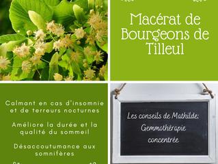 Les conseils de Mathilde: le macérât concentré de bourgeons de Tilleul