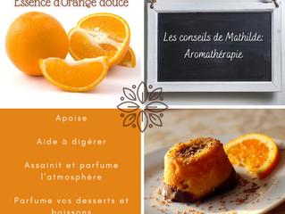 Les conseils de Mathilde: l'essence d'Orange douce (zestes)