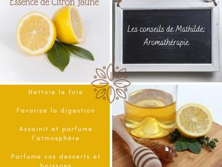 Les conseils de Mathilde: l'essence de Citron jaune
