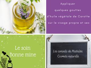 Les conseils de Mathilde: Soin bonne mine avec l'huile végétale de Carotte