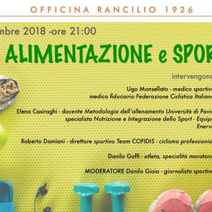 """GS Rancilio - Serata """"Alimentazione & Sport"""""""