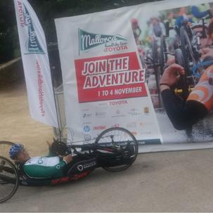 "GS Rancilio - Juan Carlos di Bella al ""Mallorca Handbike Tour"""