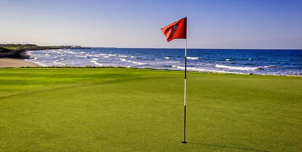 Al Mouj Golf Par 3 13th hole