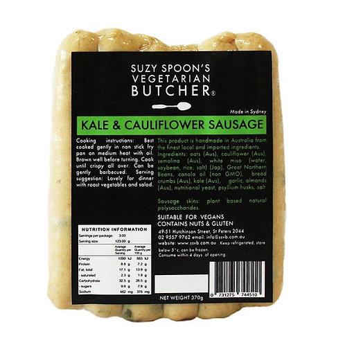 Suzy Spoon's Kale & Cauliflower Sausages