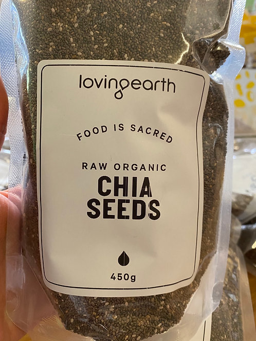 LOVING EARTH - Organic Chia Seeds 450g