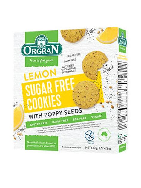 ORGRAN - Sugar Free Cookies, Lemon and Poppy Seed