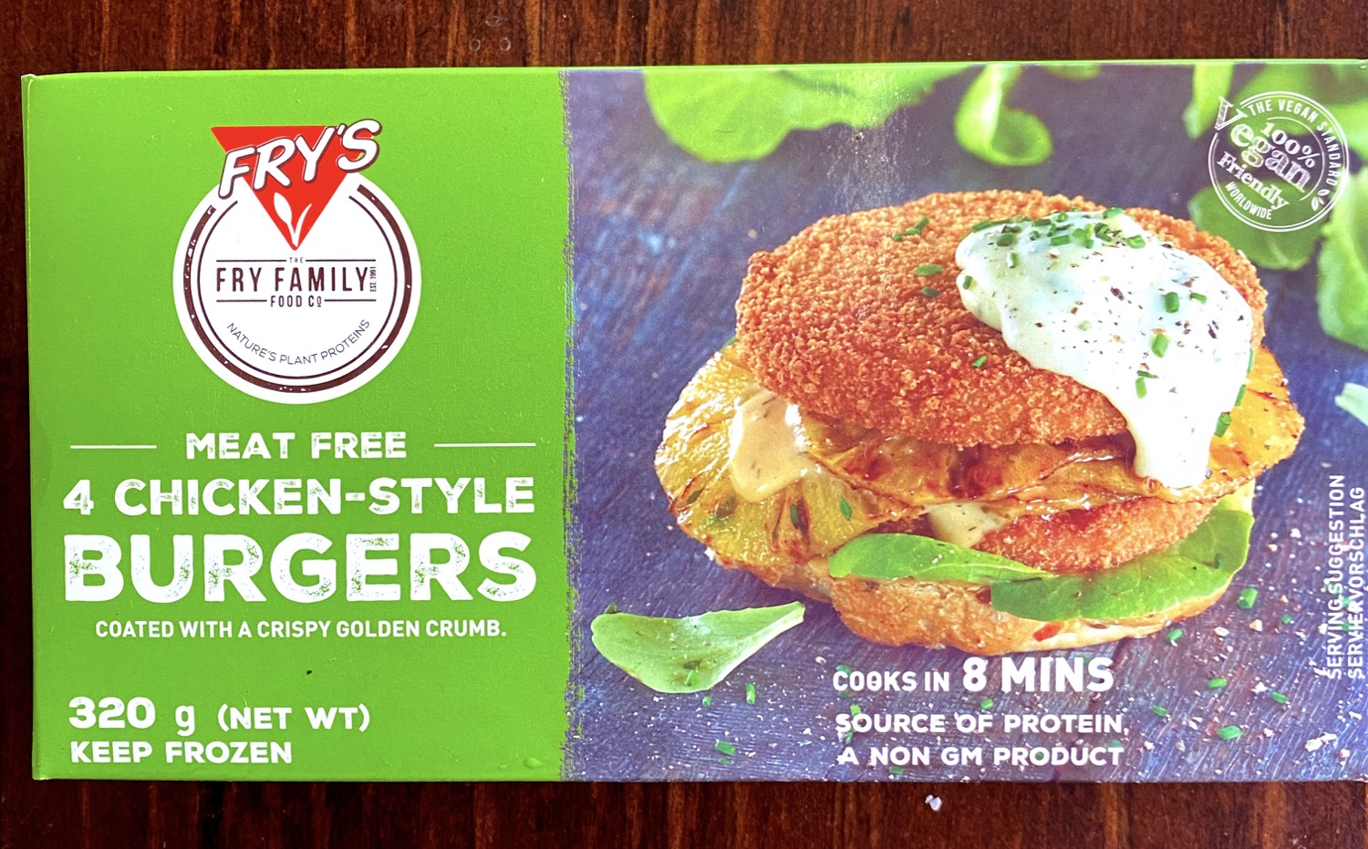 FRY'S Chicken Style Burgers