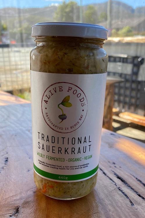 ALIVE FOODS - Traditional Sauerkraut Organic 440ml