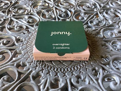 JONNY OVERNIGHTER CONDOMS 3PK