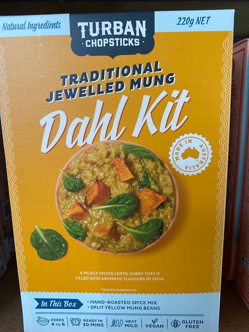 TURBAN CHOPSTICKS - Dahl Kit, Traditional Jewelled Mung