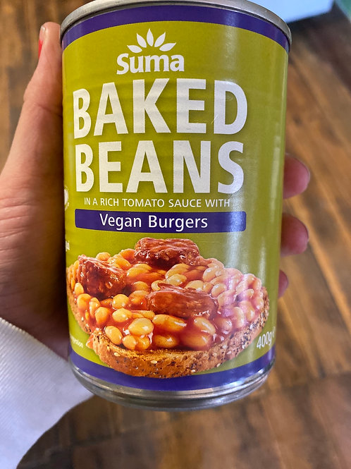 SUMA - Baked Beans with Burgers