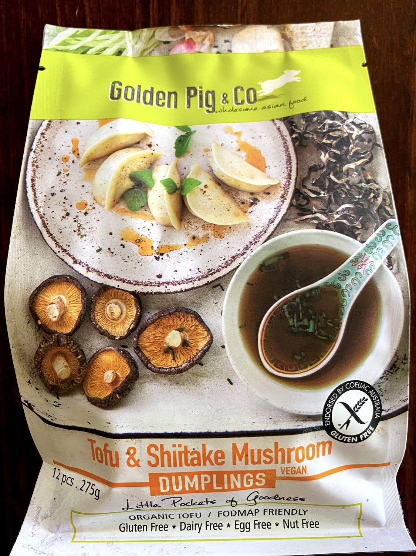 Tofu and Shiitake Mushroom Dumplings