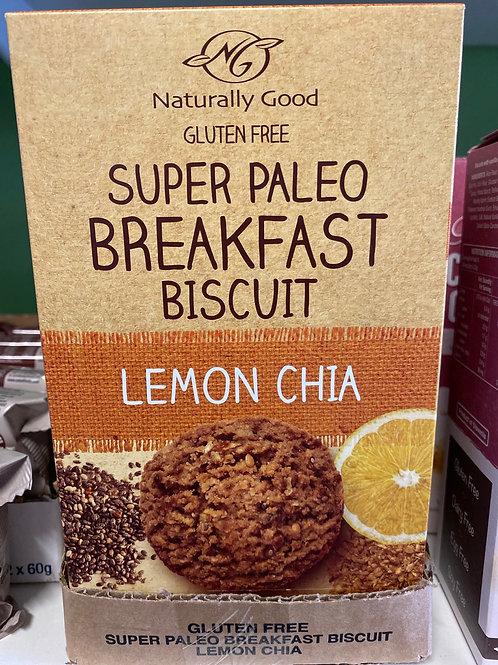 PALEO Breakfast Biscuits - Lemon Chia