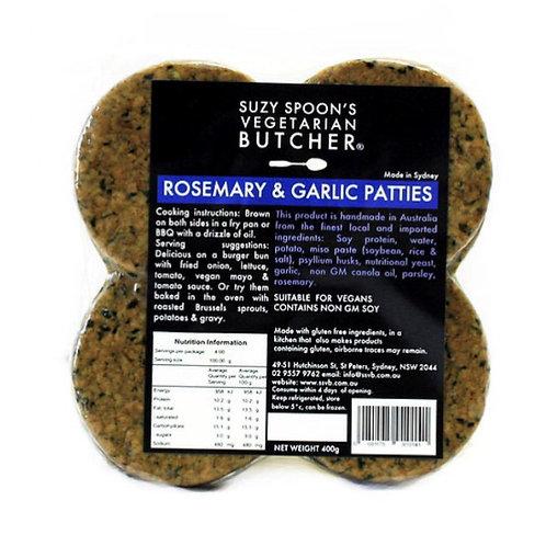 Suzy Spoon's Rosemary + Garlic Patties